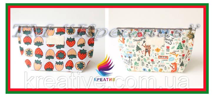 Подарочные косметички с логотипом (под заказ от 100 шт)
