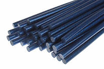 Термоклей синий с глиттером, диаметр 11 мм, длинна 30 см, 157437