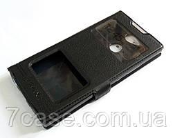 Чехол книжка с окошками momax для Sony Xperia XA2 H4113 черный