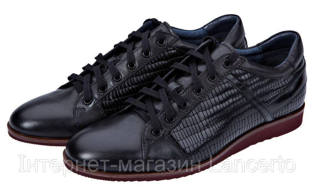 Чоловіче Шкіряне Взуття Чорне LANCERTO York - Інтернет-магазин Lancerto в  Польше 2183f5f610d9f