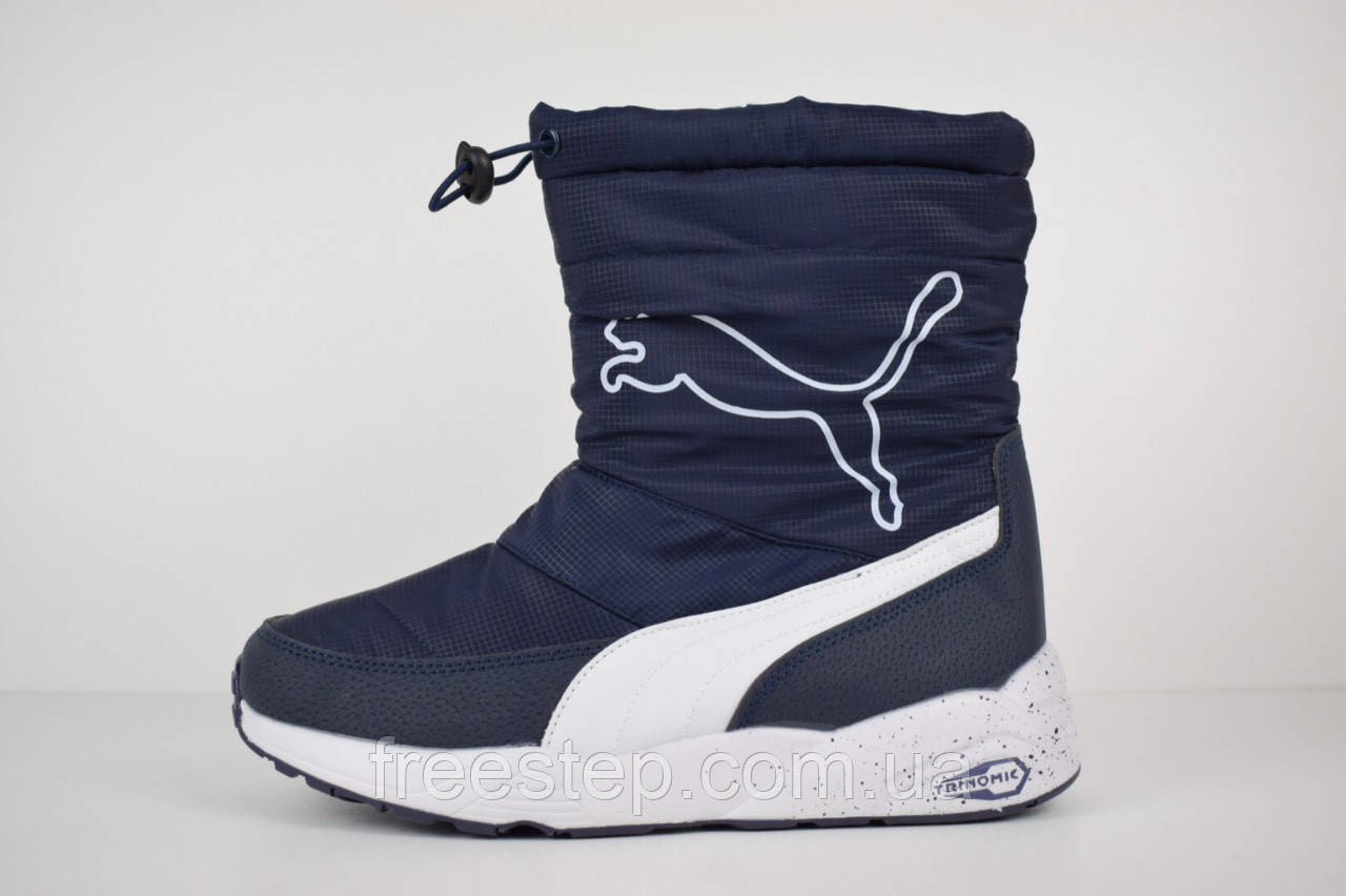 be3b991832eb Женские зимние сапоги в стиле Puma Trinomic, натур. мех  продажа ...