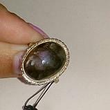 Лабрадорит пурпурный кольцо с натуральным камнем лабрадор в серебре 18 размер. Кольцо с лабрадором. Индия, фото 4
