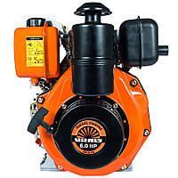 Двигатель дизельный Vitals DM 6.0k (6,0 л.с., ручной старт, сьем. цилиндр, шпонка Ø25,4мм, L=72мм)+ доставка