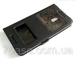 Чехол книжка с окошками momax для Nokia 2.1 черный