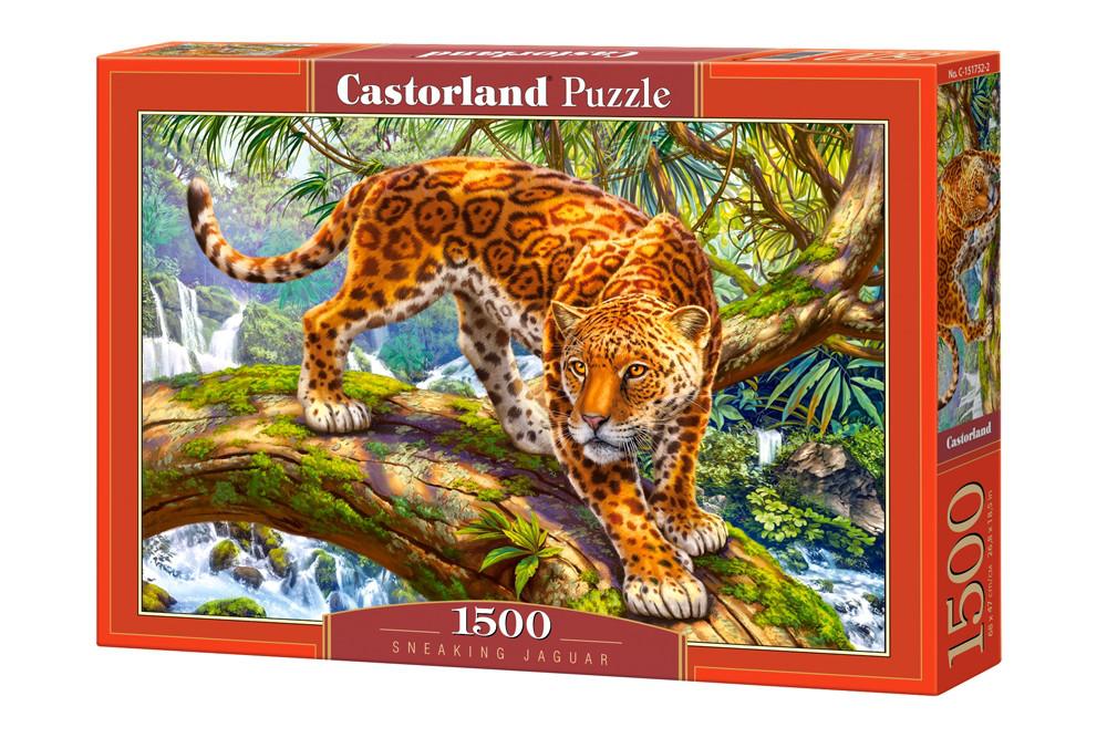 """Пазлы Castorland 1500 элементов - """"Крадущийся Ягуар"""" Castoland 151752"""