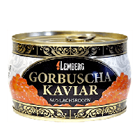 Икра горбуши 400 гр Lemberg premium Германия лососевая красная кошерная метал банке