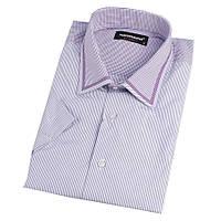 Приталенные мужские рубашки с коротким рукавом размер M, фото 1