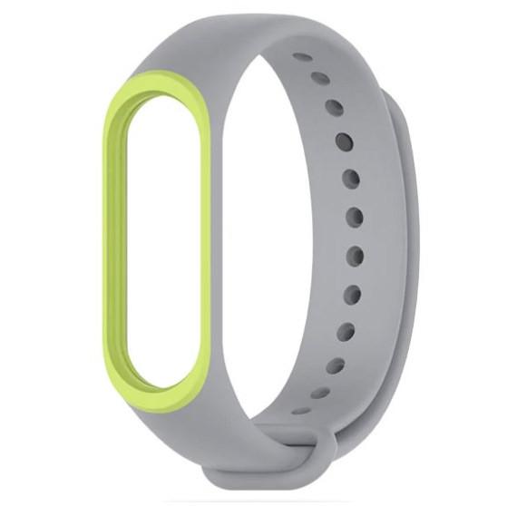 Силиконовый ремешок Primo для фитнес-браслета Xiaomi Mi Band 3 - Grey&Green