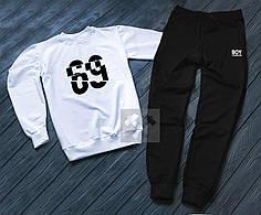 Спортивный костюм без молнии Boy London бело-черный топ реплика