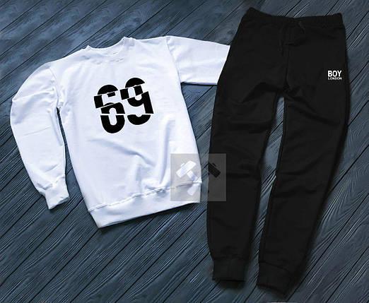 Спортивный костюм без молнии Boy London бело-черный топ реплика, фото 2