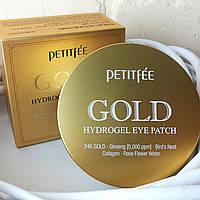 Гидрогелевые патчи под глаза с золотым комплексом и экстрактами PETITFEE +5 Gold Hydrogel Eye Patch - 60 шт