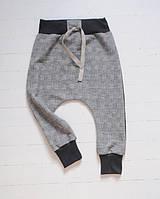 Демисезонные штаны гаремы в клетку. Размер: 104 см, фото 1