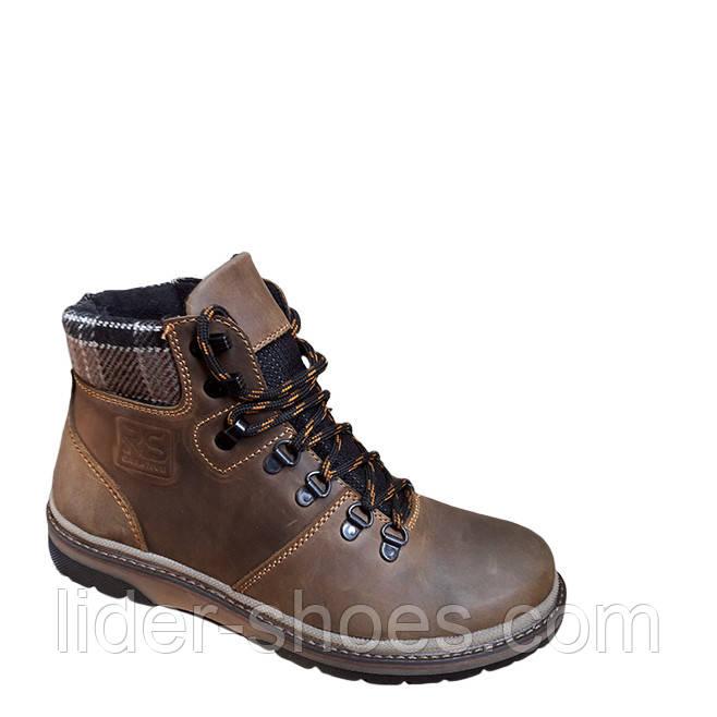 Ботинки зимние подростковые коричневого цвета