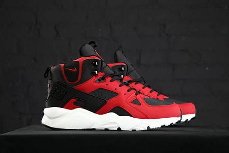 """Зимние кроссовки Nike Huarache High """"Черные / Красные"""", фото 2"""