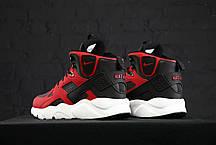 """Зимние кроссовки Nike Huarache High """"Черные / Красные"""", фото 3"""