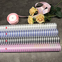 Упаковка для цветов, калька, полоска