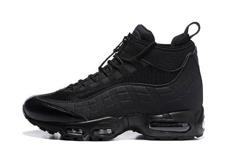 """Зимние кроссовки Nike Air Max 95 Sneakerboot """"Black"""" (Черные), фото 2"""