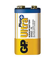 Батарейка щелочная GP 1604AUP-S1 Ultra Plus Alkaline 6LR61 9V крона (трей)