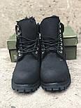 Зимние ботинки Timberland classic 6 inch black fur с мехом. Живое фото (Реплика ААА+), фото 5