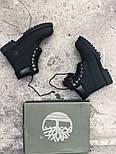 Зимние ботинки Timberland classic 6 inch black fur с мехом. Живое фото (Реплика ААА+), фото 6