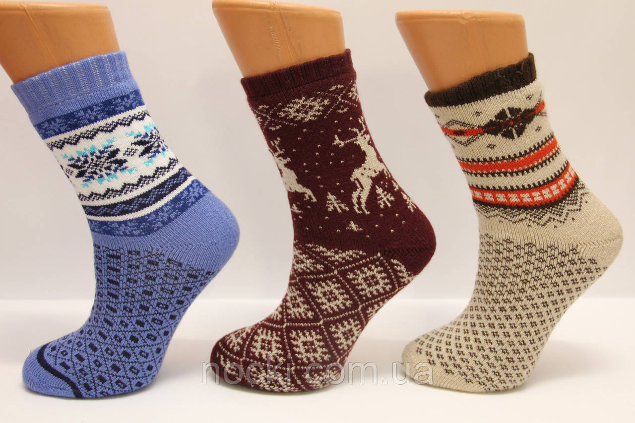 Женские полушерстяные махровые термо носки Стиль люкс Ж30-301