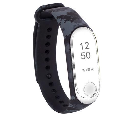 Силиконовый ремешок Primo для фитнес-браслета Xiaomi Mi Band 3 - Digital Grey