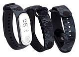 Силиконовый ремешок Primo для фитнес-браслета Xiaomi Mi Band 3 - Digital Grey, фото 2