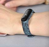 Силиконовый ремешок Primo для фитнес-браслета Xiaomi Mi Band 3 - Digital Grey, фото 3