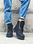 Зимние ботинки Timberland classic 6 inch black fur с мехом. Живое фото (Реплика ААА+), фото 2
