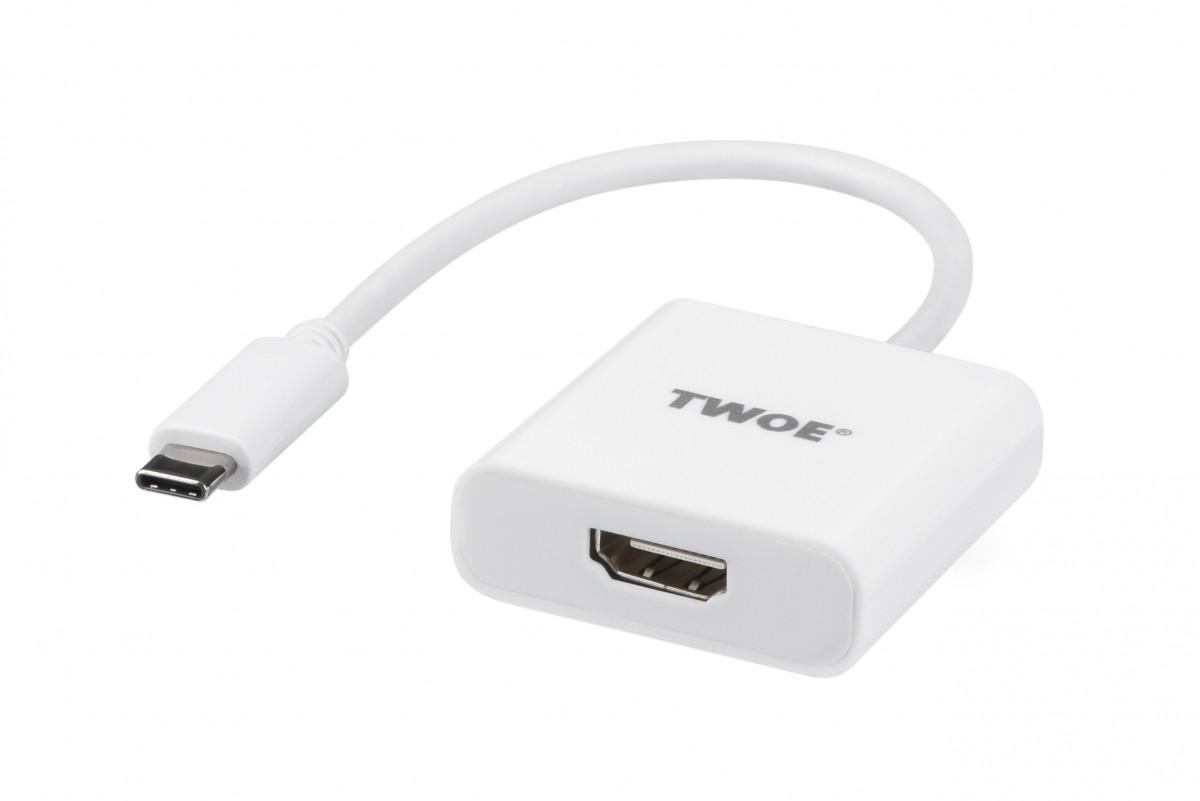 2E Адаптер Type-C Male -HDMI F, al, 0.15м