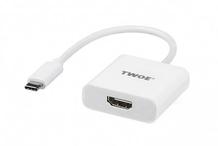 2E Адаптер Type-C Male -HDMI F, al, 0.15м, фото 2