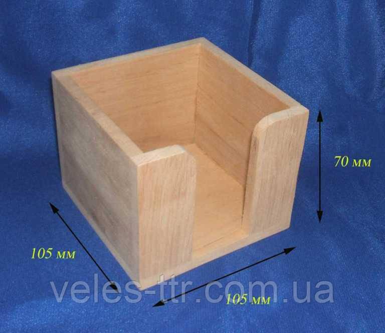 Підставка для паперу 10.5х10.5х7 см Дерево заготівля для декору