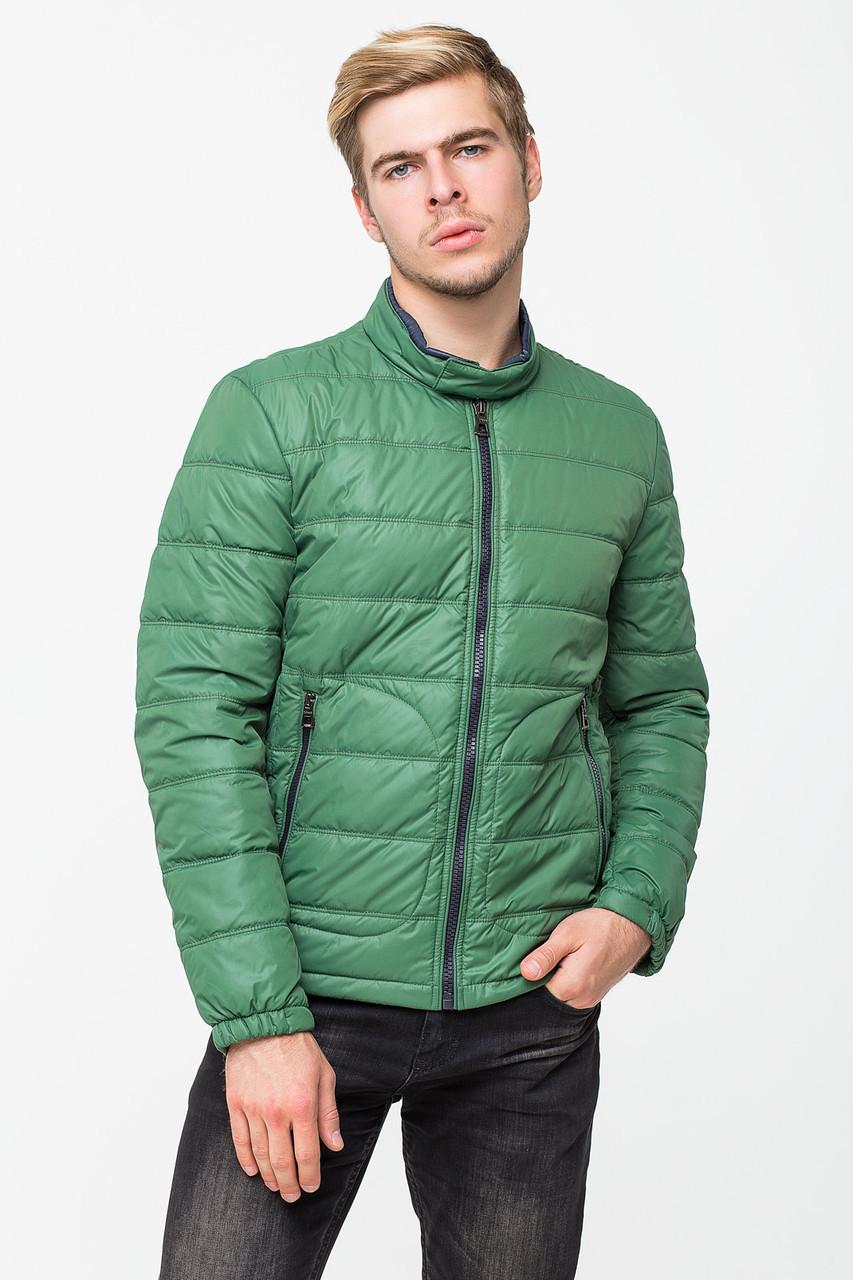 Демисезонная мужская куртка T-501 зеленая (#377)
