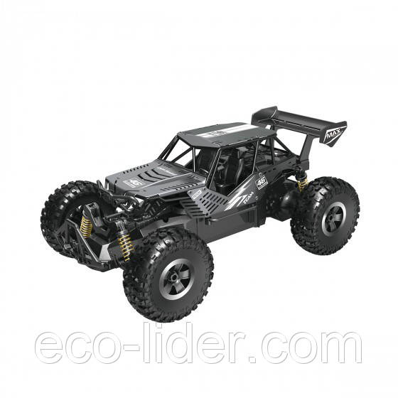 Автомобиль OFF-ROAD CRAWLER на р/у – SPEED KING (черный металлик, метал. корпус, аккум. 6V, 1:14)