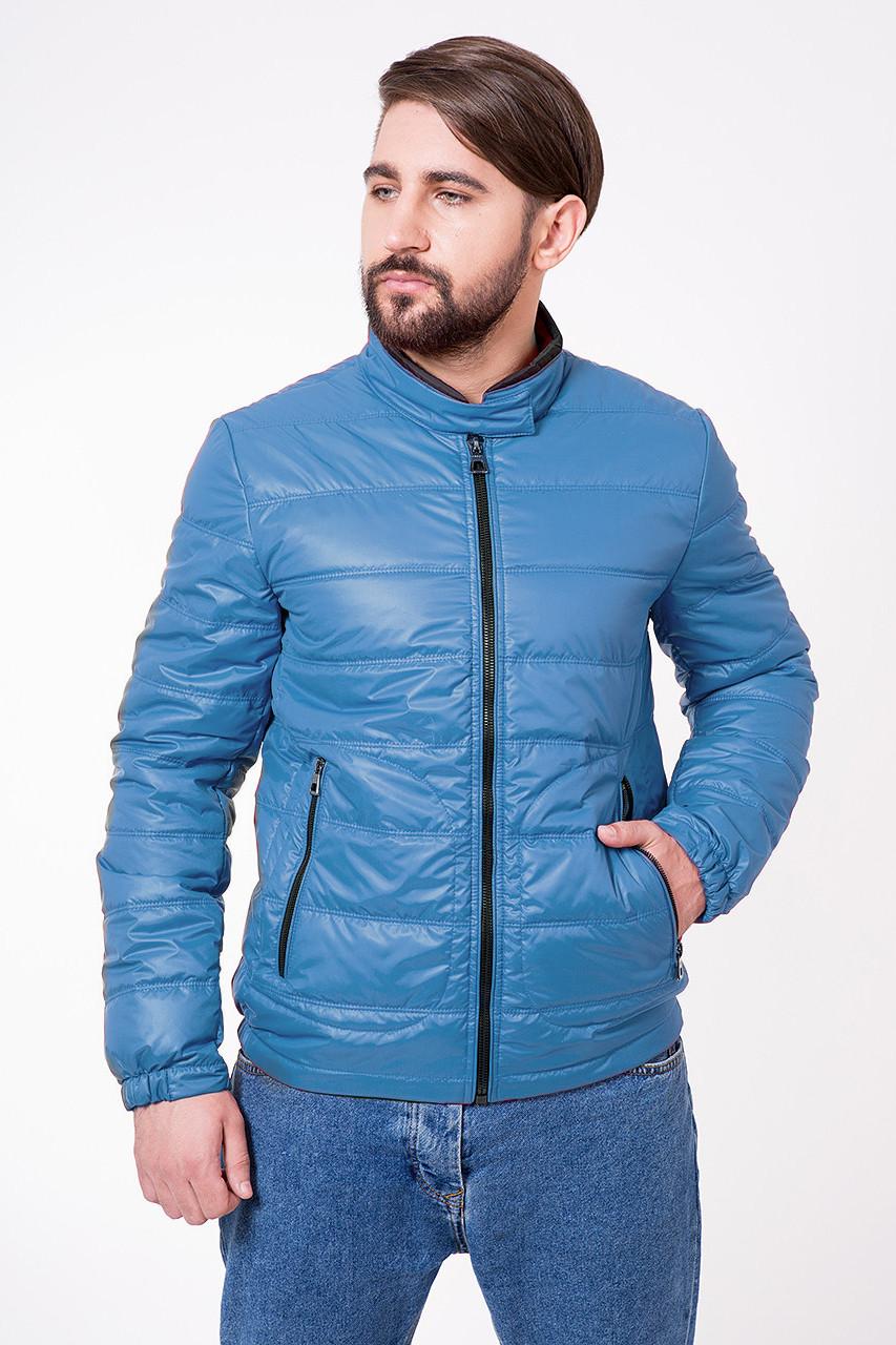 Демисезонная мужская куртка T-501 ярко-голубая (#505)