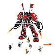"Конструктор Lepin 06052 ""Огненный робот Кая"" Ниндзяго Муви, 1010 деталей. Аналог Lego Ninjago Movie 70615, фото 3"