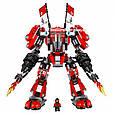 "Конструктор Lepin 06052 ""Огненный робот Кая"" Ниндзяго Муви, 1010 деталей. Аналог Lego Ninjago Movie 70615, фото 4"