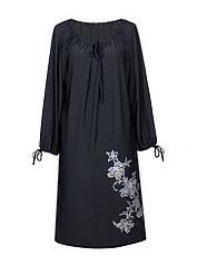 Прямое платье с длинным рукавом Ветка / разм. до 64+ / больших размеров /