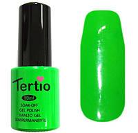 Гель-лак Tertio 022 Кислотный салатовый эмалевый плотный., 10 мл.