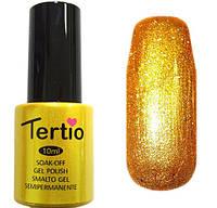 Гель-лак Tertio 021 Желтое золото с перламутром, плотный, 10 мл.