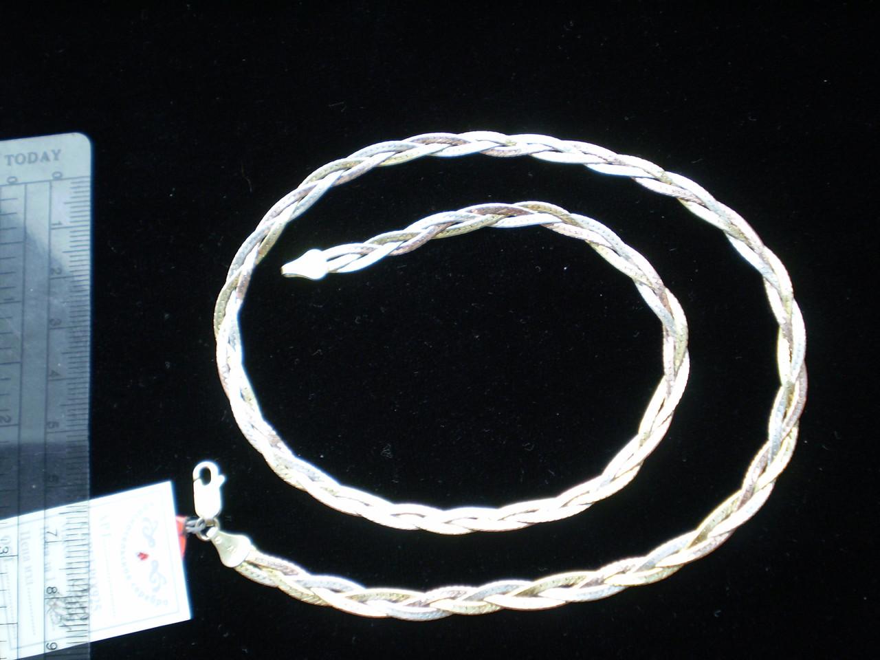 Цепочка КОСИЧКА позолота 45см