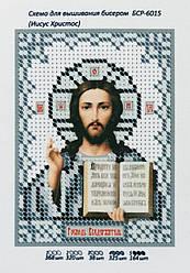 """Схема для вышивки бисером """"Иисус Христос"""" (8,5х11,8 см)"""