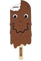 """Силиконовый чехол Moschino """"Ice cream"""" для iPhone 5/5S, шоколад"""