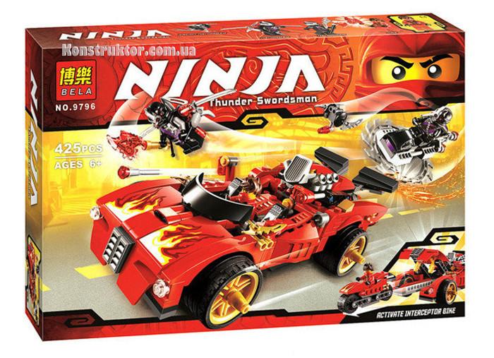 """Конструктор Bela 9796 """"Ниндзя перехватчик Х-1"""" Ниндзяго, 425 деталей. Аналог Lego Ninjago 70727"""