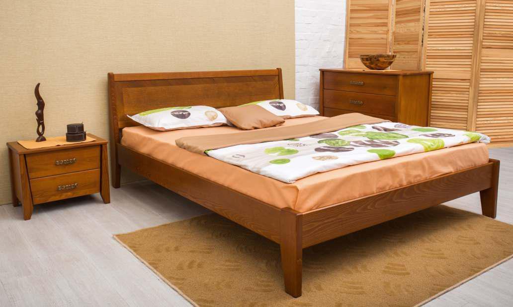 Кровать Олимп Сити (без изножья с интарсией) (200*200)