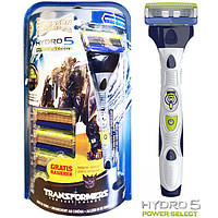 Станок Wilkinson - Sword Hydro 5 Power Select Transformers Edition - 4 шт. + 1 шт. ( с батарейкой)