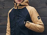 Весенняя | осенняя мужская парка Staff raglan beige and navy