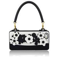 """Силиконовый чехол """"Cliche flowers"""" для iPhone 5/5S, черно-белый"""