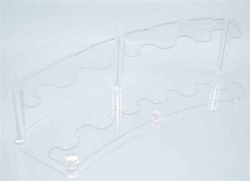 Подставка для расчесок прозрачная PP-05