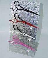 Подставка для ножниц на 4шт серебро